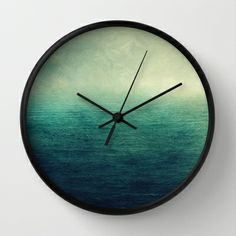 Moody ocean Wall Clock by Juste Pixx Photography - $30.00