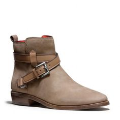 The Leoda Boot from Coach  -  short, flat coach boot.  want.   lj
