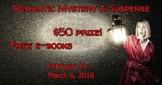 Enjoy your mysteries with a touch of romance? Then check out these FREE mystery and suspense titles. Thrills and kisses in each great read! Sign up to learn a little more about the authors, then download your free ebooks. And don't forget to sign up for the $50 gift card!