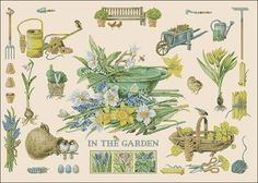 In the garden -free cross-stitch design