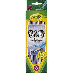 Kids' Colored Pencils - Crayola 8ct Metallic FX Colored Pencils ** Visit the image link more details.