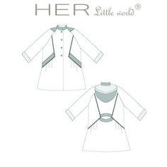 HER Little world, Patron de couture pour vêtement enfant, Manteau Emmitouflé