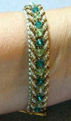 Free Beaded Bracelet Patterns | Visions - Main Template                                                                                                                                                                                 More