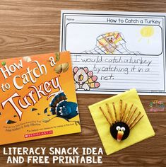 Literacy Snack Idea Catch A Turkey + Free Printable - Primary Playground