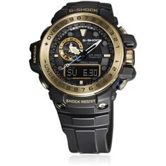 G-shock Master Of G Men Gulfmaster Superior Watch ($710) ❤ liked on Polyvore featuring men's fashion, men's jewelry and men's watches