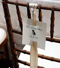 chair decoration idea
