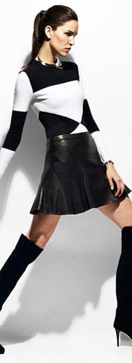 10 Derek Lam Flared Leather Skirt