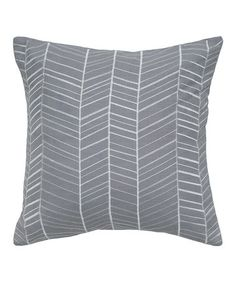 Take a look at this Gray & White Herringbone Transitional Throw Pillow by Rizzy Home on #zulily today!
