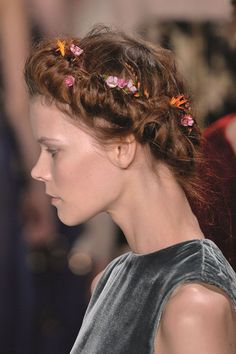 Haute Couture hair, a cut above the rest - Fashion Galleries - Telegraph 2015 Fashion Trends, 2015 Trends, Cut Above The Rest, Plastic Flowers, Fashion Gallery, Hair A, Spring Summer 2015, Valentino, Style Inspiration