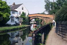 Cheshire the Lymm village. Sooty and Sweep lived in the white house Lymm Warrington Cheshire Bridgewater Canal, Cheshire England, Canal Boat, Europe Photos, England Uk, Days Out, Photo Mugs, Poster Prints, Art Print