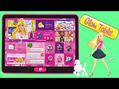 Barbie Glam Tablet 60+ Barbie Phrases - Music Photo Video Map Shopping Electronic Kid Toys DCTC - YouTube