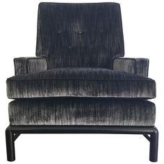 T.H. Robsjohn Gibbings Tufted Highback Lounge Chair