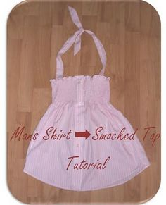 men's shirt into smocked top tutorial