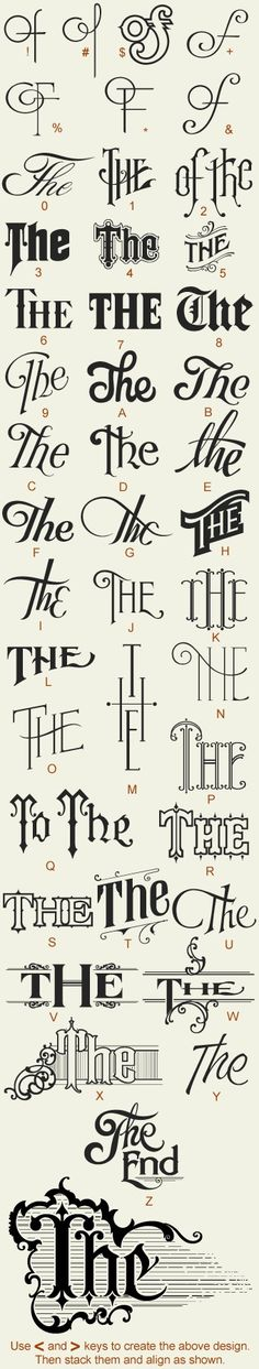 the type lettering