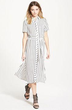 GLAMOROUS Belted Shirtdress #white #black #shirtdress #dress #boho #fashion