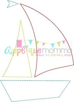 Sailboat 2 Vintage Embroidery Design