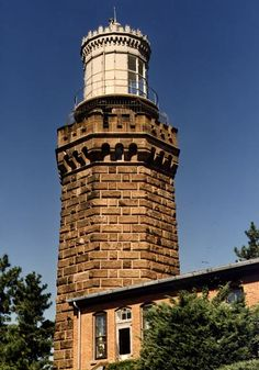 Naveskink Twin Lighthouse - North Tower in Highlands, New Jersey.