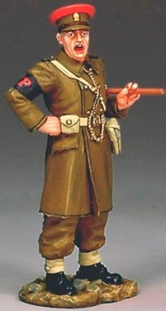World War II British Army FOB051 British Shouting Military Police - Made by King and Country Military Miniatures and Models. Factory made, hand assembled, painted and boxed in a padded decorative box. Excellent gift for the enthusiast.