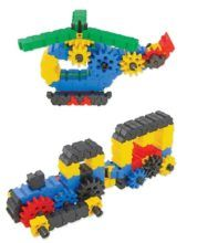 Gearphun - Helicopter & Train. Key Stage 1 & Key Stage 2 gears and levers, DT. Made by Morphun.