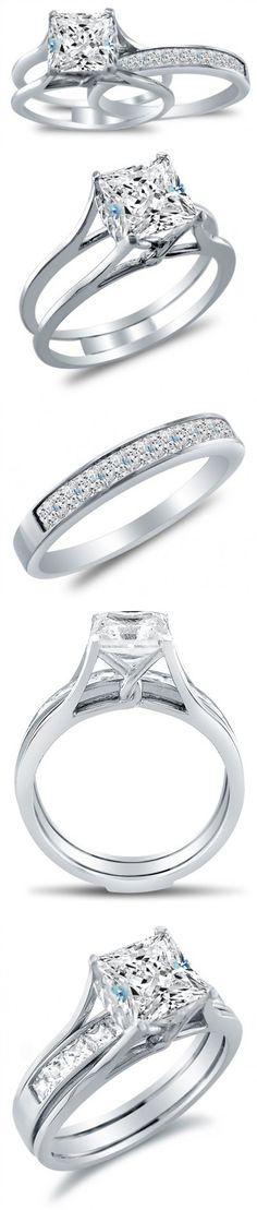 1//2ct Princess Cut Topaz Channel Set Wedding Men/'s Band Ring 14K White Gold Over