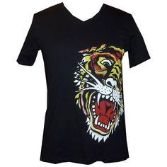 d8043e9db3a Ed Hardy Mens Basic New Tiger Short Sleeve T-Shirt- « Impulse Clothes