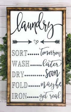 Signs With Quotes Farmhouse Decor Laundry Room Decor Farmhouse Signs Funny Signs Signs For Home - 12 room decor Rustic laundry signs ideas Farmhouse Side Table, Country Farmhouse Decor, Farmhouse Signs, Modern Farmhouse, Farmhouse Style, Country Kitchen, Farmhouse Ideas, Vintage Farmhouse, French Farmhouse