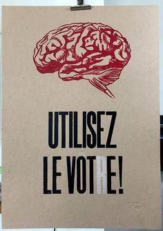 Poster typographique citoyen Utilisez le votre