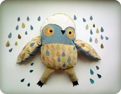Marcus Big  Owl soft toy by  Wassupbrothers by wassupbrothers, $70.00