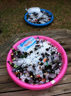 The idea is simple: grab a few kiddie pools and fill 'em with ice. Invite your friends and have them each bring a six-pack of craft or import beer. Chill the beers in the pool and then pick and choose different beers all night.