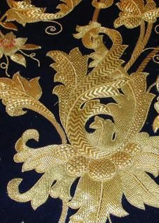 Goldwork by a Master in Seville, Spain believe they have a training program, site is in spanish Bordados en Oro Charo Bernardino | Inicio