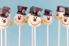 Frosty Snowman Cake Pops