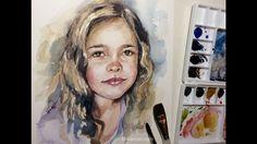 Quick Watercolor Portrait Painting Demo by Ch.Karron