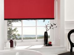 Lots of fashionable colours in the Carnival collection, including Chelsea Red#RollerBlinds