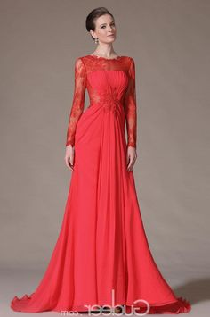 Long Evening Gowns With Long Sleeves