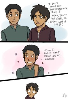 Shingeki no Kyojin Jean Kirchstein x Marco bodt. This is amazing Eren and I have the same face right now