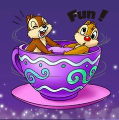 Chip n Dale on the Teacups