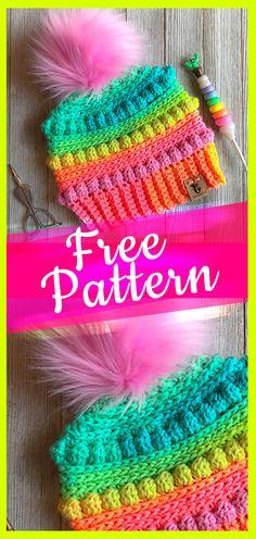 Crochet Pattern Bubblegum Pop Hat