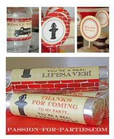 Vintage Firetruck Party Idea - For the little guy (or big firefighter) in your life