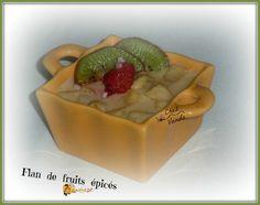 Au menu ce soir , ce petit dessert fruité et épicé. Dessert tout simple à réaliser !!!!!! Recette extraite du livre WW* la cuisine avec flexipoints de 2007 * Compatible pour 1 journée sans compter Flan de fruits épicés Pour 4 pers; 1PP la part Dans le...