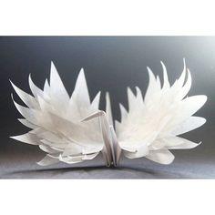 premonition crane by paper artist Cristian Marianciuc