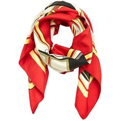 Pre-owned Hermès Silk Handkerchief (800 BRL) ❤ liked on Polyvore featuring accessories, scarves, red, red bandana, red shawl, silk bandana, red silk handkerchief and red silk scarves