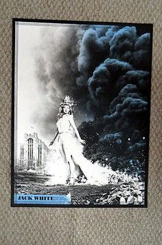 Rare Jack White Detroit Masonic Temple Lazaretto Tour Poster White Stripes