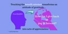 Learning Mindsets and the Whole Child: The Fixed, Growth, and Benefit Mindset Pay It Forward, Attitude Of Gratitude, Growth Mindset, Benefit, Leadership, Appreciation, Laughter, Acting, Thankful