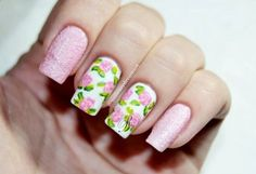 40 Amazing Vintage Roses Nail Designs 2019 - Reny styles - Swetlana Home Rose Nail Design, Rose Nail Art, Floral Nail Art, Rose Nails, Gel Nail Art, Pink Nails, Color Nails, Nails Design, Acrylic Nails
