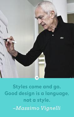 Massimo Vignelli – a modernist graphic designer