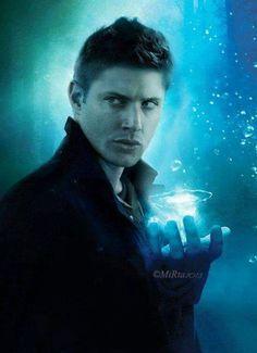 Jensen Ackles as Dean Winchester Castiel, Supernatural Fans, Supernatural Drawings, Supernatural Fan Art, Supernatural Wallpaper, Sam Winchester, Winchester Brothers, Jensen Ackles, Fanart