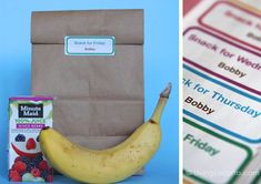 Customize these Free Printable Labels with Your Kid's Name for School Snacks. LivingLocurto.com