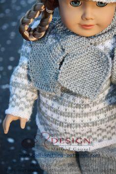 Strikkeoppskrift Baby born dukkeklær Baby Knitting Patterns, Baby Patterns, Baby Born, American Girl, Doll Clothes, Dolls, Sweaters, Fashion, Colorful Wallpaper