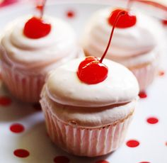 Shirley Temple Cupcake