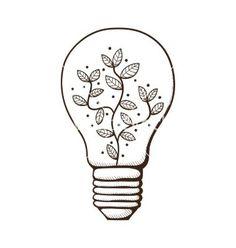 Картинки по запросу light bulb art drawing